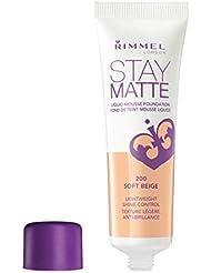 Rimmel Stay Matte Foundation Soft Beige 1 Fluid Ounce...