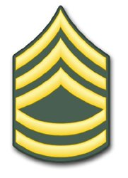 US Army E-7 Sergeant 1st Class Rank Insignia vinyl transfer decal sticker 3.8