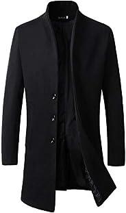 Beninos Men's Trench Coat Winter Long Jacket Button Closer Over