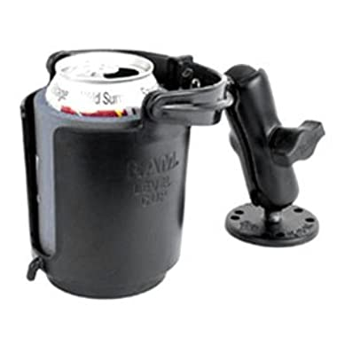RAM Mounts (RAM-B-132U) 1  Diameter Ball Mount With Round Base, Self-Leveling Cup Holder & Cozy