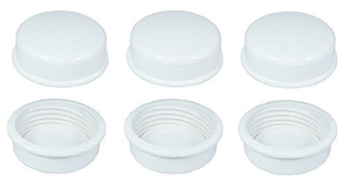 Sealing Caps Lids for Wide Neck Collection Bottle Avent Natural Polypropylene Bottles and Nenesupply Mouth Neck Bottles Storage Bottle Cap Replace Avent Natural Bottle Sealing Ring and Sealing Disc (Bottle Wide Polypropylene Neck)