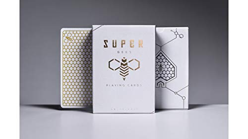 Super Bees Rare Playing Cards White Gold Limited Poker Deck