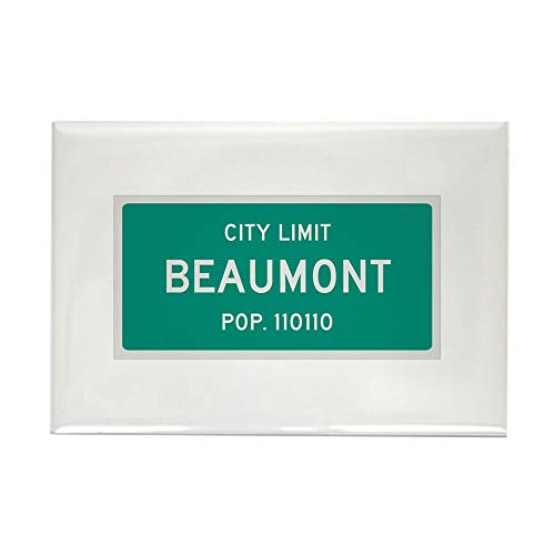 CafePress Beaumont, Texas City Limits Rectangle Magnet, 2
