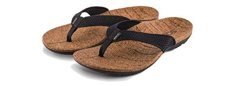(SOLE Women's Laguna Flip, Black, W 10)