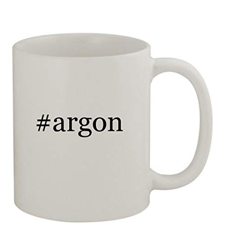 #argon - 11oz Sturdy Hashtag Ceramic Coffee Cup Mug, White