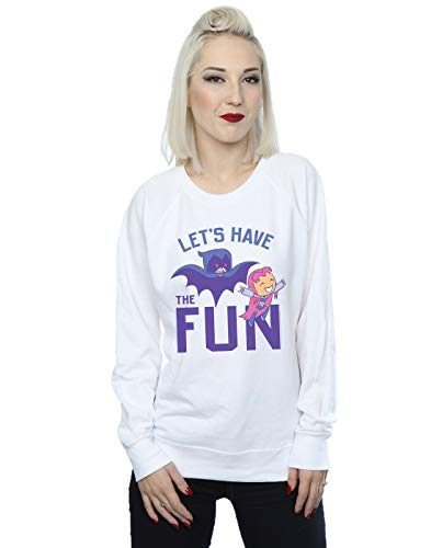 Titans Comics Let's Have Blanc shirt The Teen Femme Sweat Fun Go Dc Btx6AdA