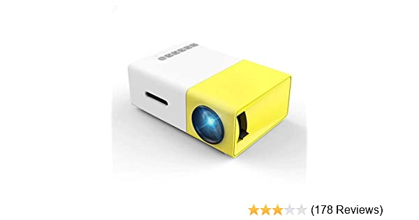 032d660697f992 Mini Projector, Meer YG300 Portable Pico Full Color LED LCD Video Projector  for Children Present, Video TV Movie, Party Game, Outdoor Entertainment with  ...