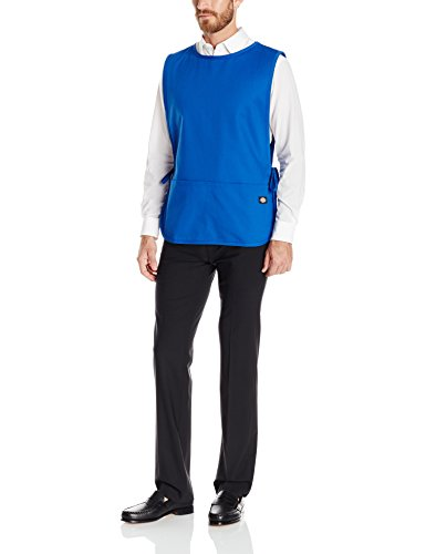 Dickies Tie (Dickies Chef Men's Unisex Cobbler Bib Apron with Tie Sides, Royal, One Size)