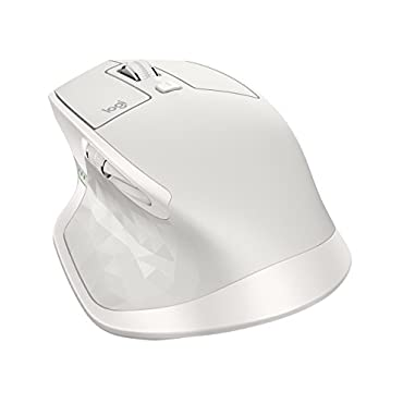 Logitech MX Master 2S Wireless Mouse with Cross-Computer Control for Mac and Windows, Light Grey (910-005138)