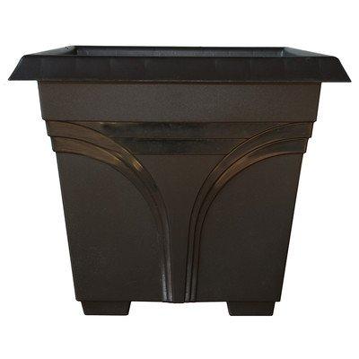 Dynamic Design DP1510BK 15'' Black Medallion Poly Deck Box by Southern Patio Sales