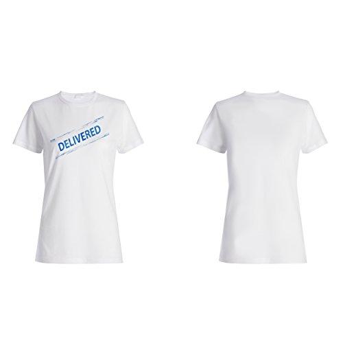 Lieferte lustige Briefmarkenweinlese Damen T-shirt f326f