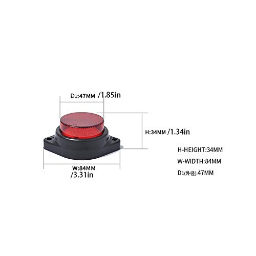 Se/ñal de alarma L/ámpara de advertencia Estrobosc/ópica Luz de advertencia impermeable 24V Luz indicadora L/ámpara de 6 LED peque/ña Luz intermitente de seguridad