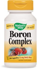 Nature's Way Boron Complex, 100 Capsules (Pack of 3) Review