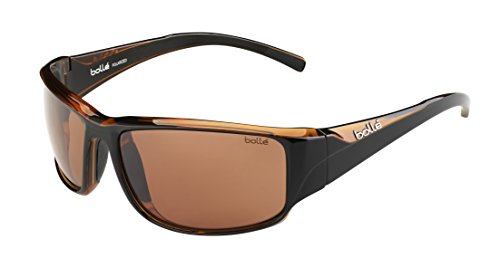 - Bolle Keelback Sunglasses, Shiny Black/Brown TLB Dark