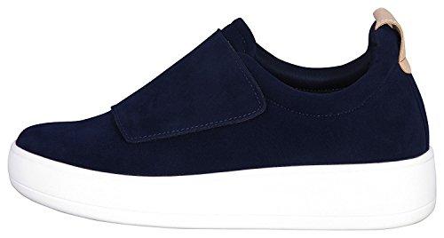 Glasyr Kvinna Rem Låg Topp Mode Sneaker Navy