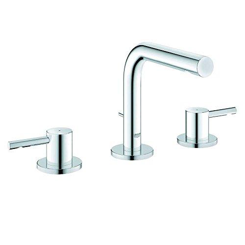 Essence Lavatory Centerset (Essence 8 in. Widespread 2-Handle Low-Arc Bathroom Faucet)