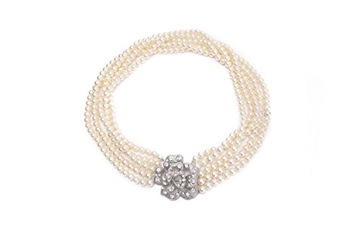 Necklace – Audrey Hepburn Breakfast at Tiffany's, Five-Strand Pearl Necklace