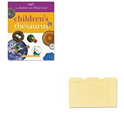 KITHOU1472086UNV12113 - Value Kit - HOUGHTON MIFFLIN COMPANY American Heritage Children\'s Thesaurus (HOU1472086) and Universal File Folders (UNV12113)