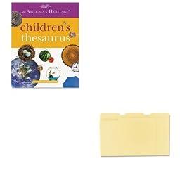 KITHOU1472086UNV12113 - Value Kit - HOUGHTON MIFFLIN COMPANY American Heritage Children\'s Thesaurus (HOU1472086) and Universal File Folders (UNV12113)