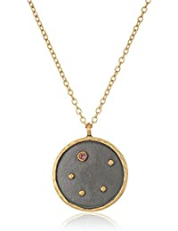 Zodiac Gold-Plated Amethyst Aquarius Constellation Necklace