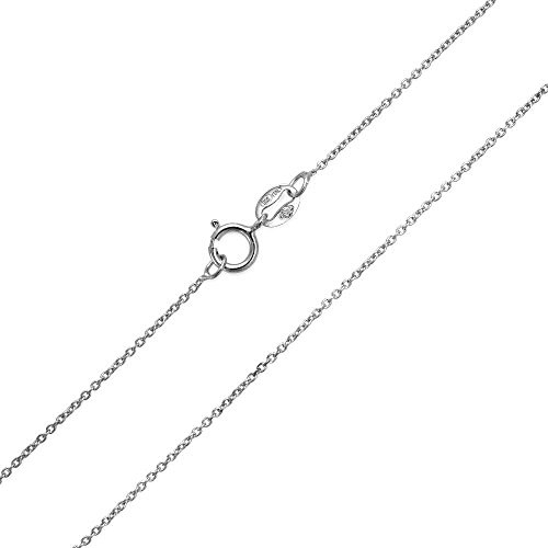 Princess Kylie Sterling Silver Thin Cable 025 Link Chain ()