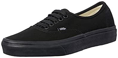 Vans Authentic Black Black VN-0EE3BKA Mens US 4 / UK 3 / EUR 35 / CM 22