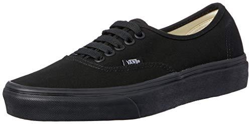 Black Canvas Shoes (Vans VEE3BKA Unisex Authentic Canvas Skate Shoes, Black/Black, 11.5 B(M) US Women / 10 D(M) US Men)