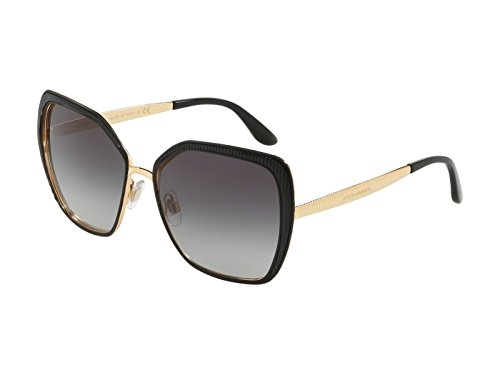 Dolce & Gabbana Women's 0DG2197 Matte Black/Gold/Grey Gradient One Size