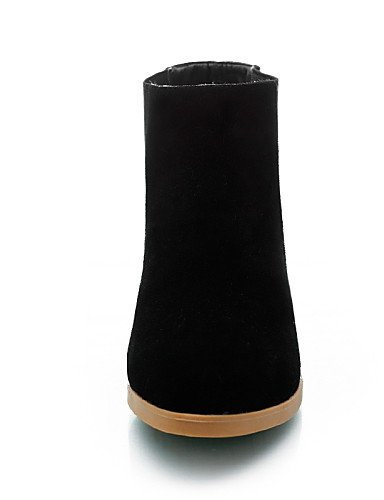 us9 Vellón Moda Eu41 Uk7 Tacón 5 Amarillo Rojo Negro Zapatos A Black 10 Casual Uk7 Punta Eu40 Beige Robusto La Mujer Beige Vestido Redonda 5 us9 Botas De 8 Cn41 Xzz Cn42 OfvBgv