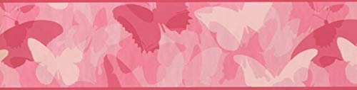 (Wallpaper Border Butterflies Pink Camo 6