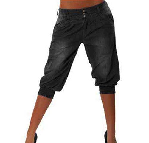 Noir Femme Nostalgique Harem Petit Pantalon Jeans Ami keephen AwBE0q5n