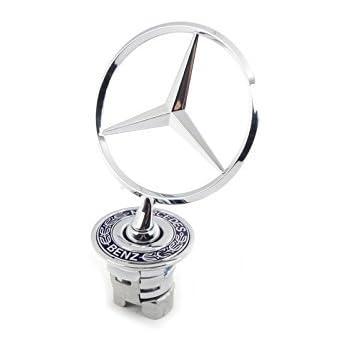 Mercedes Benz Hood Star Genuine Emblem W124 W210 E-Class W202 W203 C Class W204