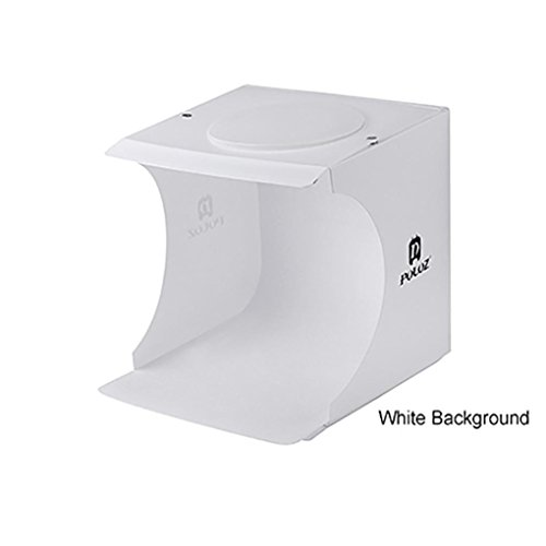 Kanzd Mini LED Light Room Photo Studio Photography Lighting Tent Backdrop Cube Box (White) by Kanzd