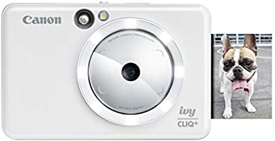 Canon IVY CLIQ+ Instant Camera Printer,Smartphone Photo Printer Via Bluetooth(R), Pearl White