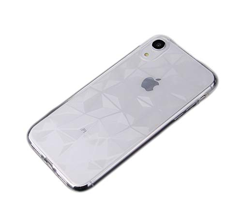 Yellow Diamond Shell - Omio for iPhone XR Clear Case Ultra Thin 3D Diamond Grain Protective Cover for iPhone XR Case Soft TPU Geometric Pattern Bumper Shockproof Anti-Yellow Anti-Scratch Shell for iPhone XR Case Clear