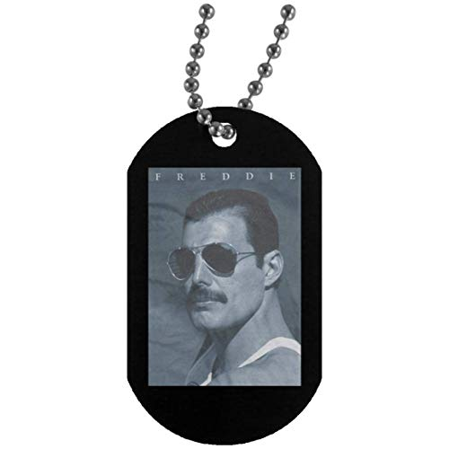 Kidoba Queen Freddie Mercury in Shades TemplateType=fptcustom (Dog Tag Military Necklace Army Dog Tags for Mens; Black; One Size)