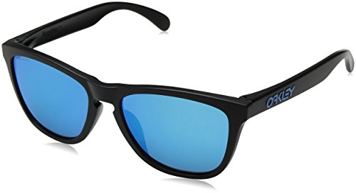 Oakley Men's Frogskins (a) Non-Polarized Iridium Rectangular Sunglasses, Matte Black, 54.02 mm ()