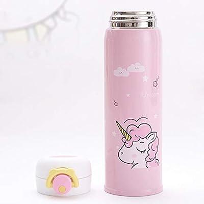 Botella de agua de acero inoxidable con diseño de unicornio, boca ...