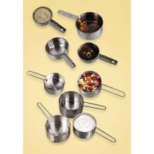 Measuring Cup Set, 1/4, 1/3, 1/2, And 1 Cup (Steel Measuring Stainless American Cups Metalcraft)
