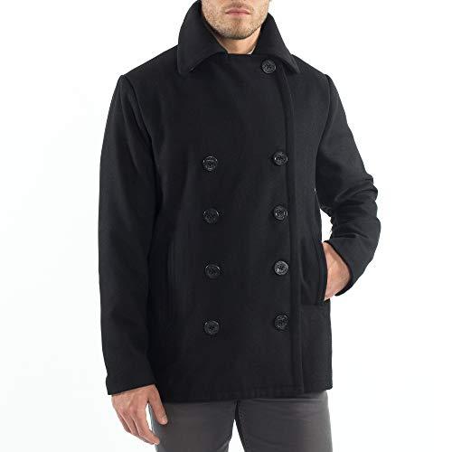 Alpine Swiss Mason Mens Wool Blend Classic Pea Coat Jacket