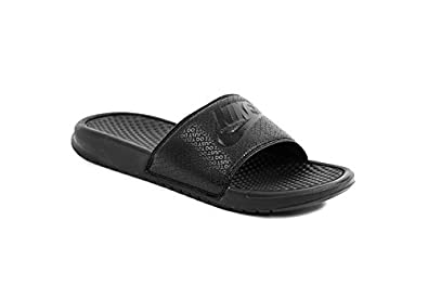 size 40 68f81 e9e86 Nike Benassi JDI Slip On Flip Flop for Men-UK-6 Black
