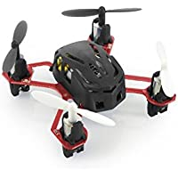 HUBSAN H111 Nano Q4 4-Channel 6 Axis Gyro Mini RC Quadcopter with 2.4Ghz Radio System Mode 2 RTF- Carton Case Black