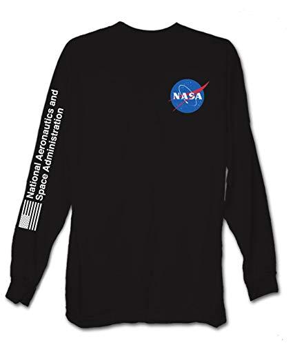 169c86d9d017 Riot Society NASA Meatball Logo Mens Long Sleeve T-Shirt - Black, Medium on  ashop