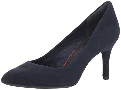 - Rockport Women's Total Motion 75mm Pointy Toe Dress Pump, Dark Sapphire Kid Suede, 8.5 W US