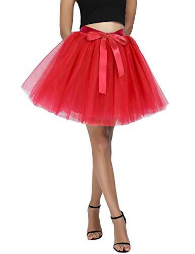 Women's High Waist Princess Tulle Skirt Adult Dance