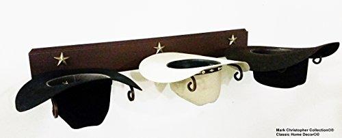 American Made Cowboy Hat Holder STAR (Western Hat Rack)