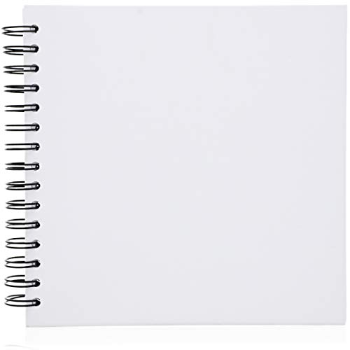 Paper Junkie Hardcover Blank DIY Scrapbook Photo Album Wedding Guestbook, 40 Sheets, 8 Inches ()