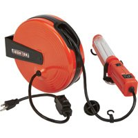 Ironton Retractable Cord Reel with Worklight - 40ft., 18/3, Fluorescent Light by Ironton (Image #1)