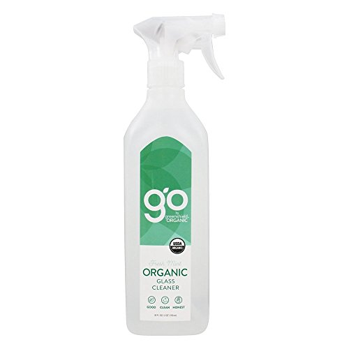GO by GreenShield Organic, 26 oz. Glass Cleaner- Fresh (Invigorating Shine Free Cleanser)