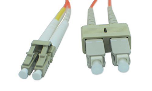 Fiber Optic Patch Cable Lc Sc Single Mode Duplex 9 125Nm Diameter 2 0Mm Polish Upc Ofnr Pvc Yellow